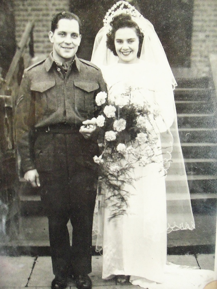 Wedding Cpl Wilfred Steven DOOL and Doreen GOODMAN