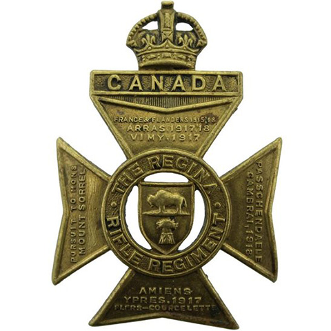 Regina Rifle Regiment capbadge