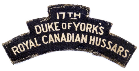 17th Duke of York's Royal Canadian Hussars, R.C.A.C.