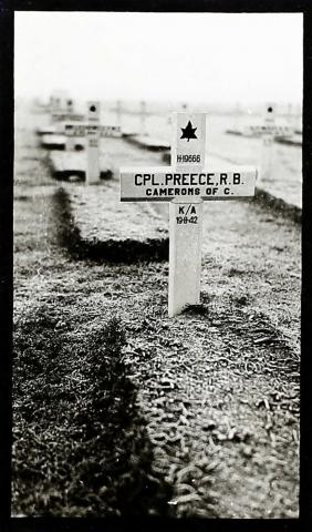 PREECE, RALPH BERTRAM - Temporary wooden cross, Adegem War Cemetery