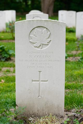 COLLINS, NICHOLAS (Highland Light Infantry of Canada)