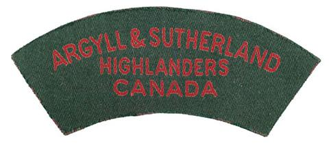 Argyll and Sutherland Highlanders of Canada (Princess Louise's), R.C.I.C.