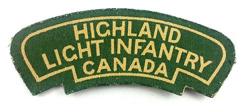 Highland Light Infantry of Canada, R.C.I.C.